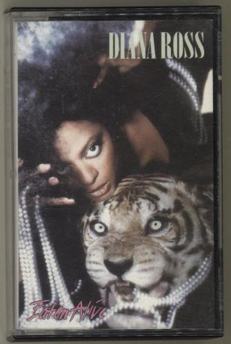 Diana Ross Eaten Alive cassette single UK DIACSEA701099