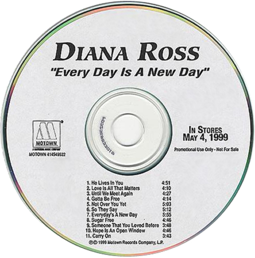 Diana Ross Every Day Is A New Day CD-R acetate US DIACREV137136