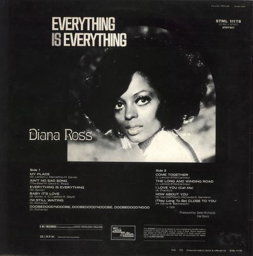 Diana Ross Everything Is Everything - 2nd vinyl LP album (LP record) UK DIALPEV724103