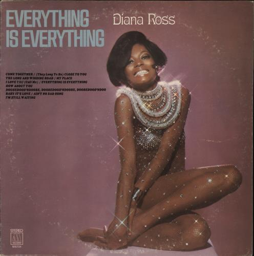 Diana Ross Everything Is Everything - White label vinyl LP album (LP record) US DIALPEV773606