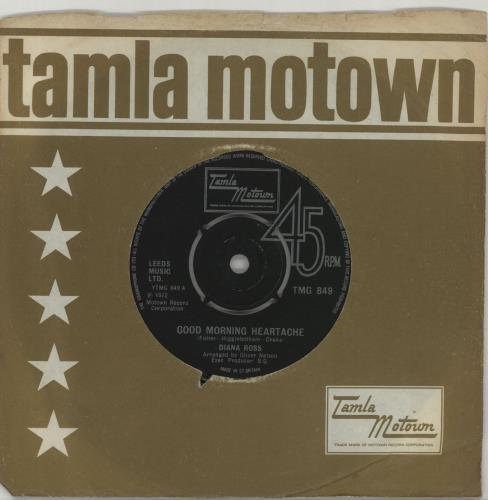 """Diana Ross Good Morning Heartache 7"""" vinyl single (7 inch record) UK DIA07GO617710"""