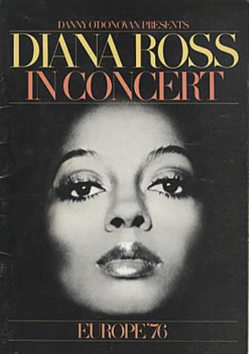 Diana Ross In Concert - Europe '76 tour programme UK DIATRIN60637