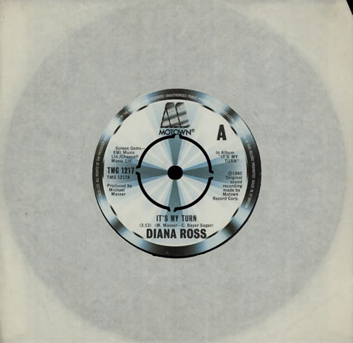 "Diana Ross It's My Turn 7"" vinyl single (7 inch record) UK DIA07IT568356"