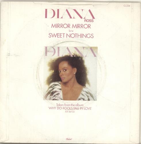 "Diana Ross Mirror Mirror 7"" vinyl single (7 inch record) UK DIA07MI560554"