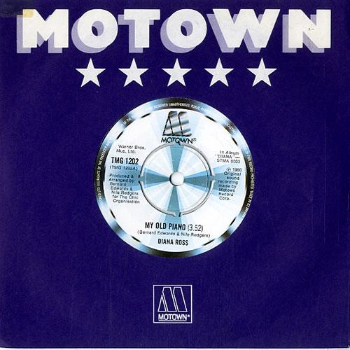 """Diana Ross My Old Piano 7"""" vinyl single (7 inch record) UK DIA07MY588204"""