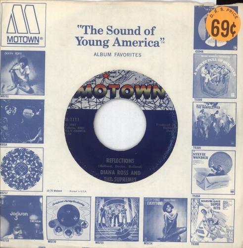"Diana Ross Reflections 7"" vinyl single (7 inch record) US DIA07RE749521"