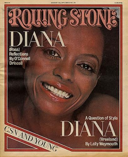 Diana Ross Rolling Stone - August 1977 magazine US DIAMARO350474