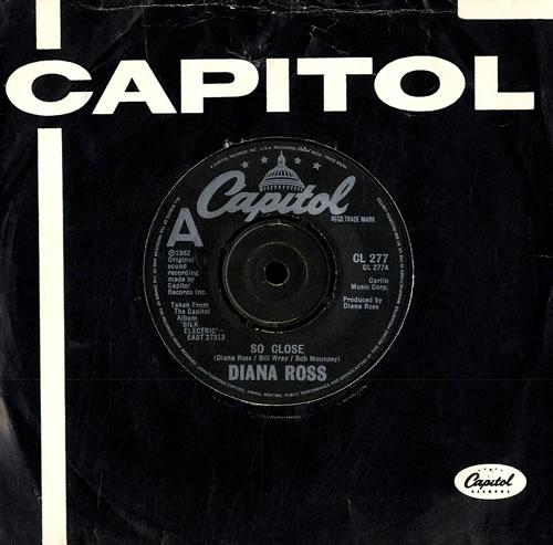 """Diana Ross So Close 7"""" vinyl single (7 inch record) UK DIA07SO558905"""