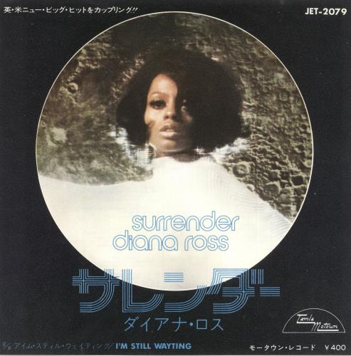 "Diana Ross Surrender 7"" vinyl single (7 inch record) Japanese DIA07SU737853"