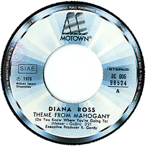 """Diana Ross Theme From Mahogany 7"""" vinyl single (7 inch record) Italian DIA07TH611824"""