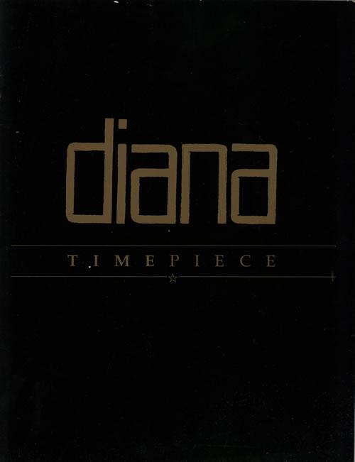 Diana Ross Timepiece tour programme UK DIATRTI579190