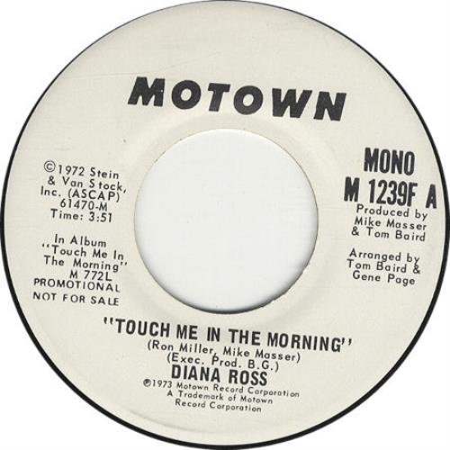 """Diana Ross Touch Me In The Orning 7"""" vinyl single (7 inch record) US DIA07TO27756"""