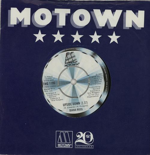 "Diana Ross Upside Down 7"" vinyl single (7 inch record) UK DIA07UP576418"