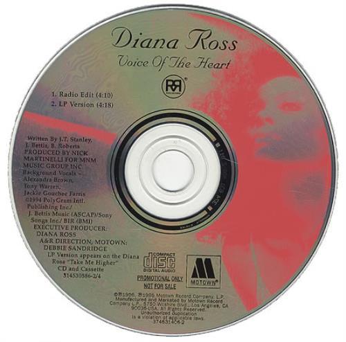 "Diana Ross Voice Of The Heart CD single (CD5 / 5"") US DIAC5VO109436"