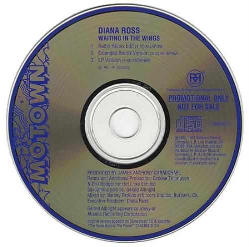 "Diana Ross Waiting In The Wings CD single (CD5 / 5"") US DIAC5WA30042"
