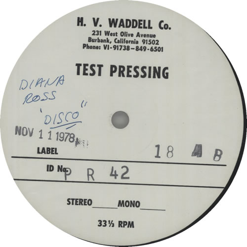 """Diana Ross What You Gave Me - Test Pressing 12"""" vinyl single (12 inch record / Maxi-single) US DIA12WH56431"""