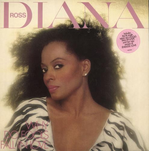 Diana Ross Why Do Fools Fall In Love - Stickered vinyl LP album (LP record) UK DIALPWH672312