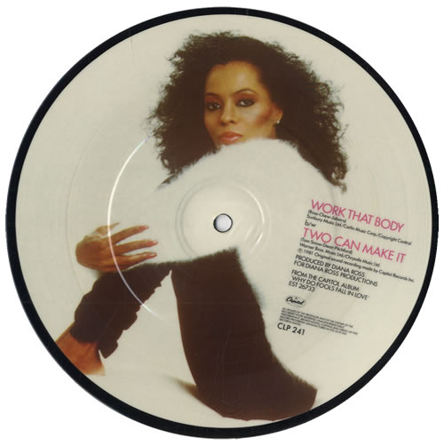 "Diana Ross Work That Body 7"" vinyl picture disc 7 inch picture disc single UK DIA7PWO33158"