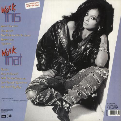 Diana Ross Workin' Overtime - Factory Sample vinyl LP album (LP record) UK DIALPWO739753