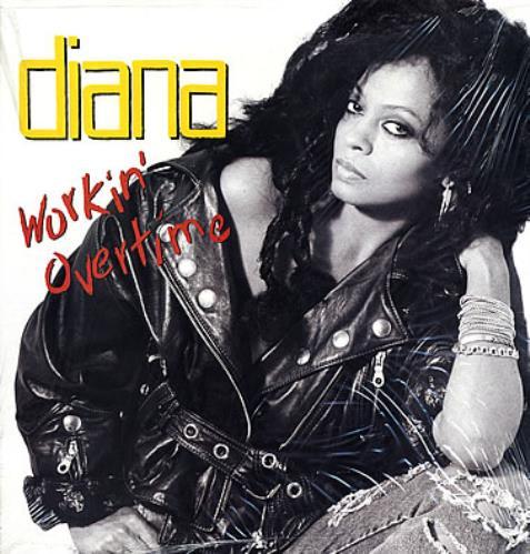 Diana Ross Workin' Overtime vinyl LP album (LP record) UK DIALPWO238635