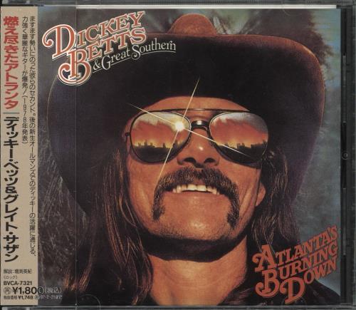 Dickey Betts Atlanta's Burning Down CD album (CDLP) Japanese DBTCDAT711016