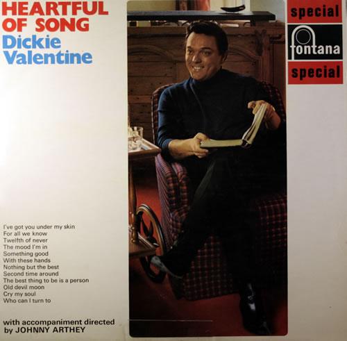 Dickie Valentine Heartful Of Song vinyl LP album (LP record) UK VLTLPHE551541