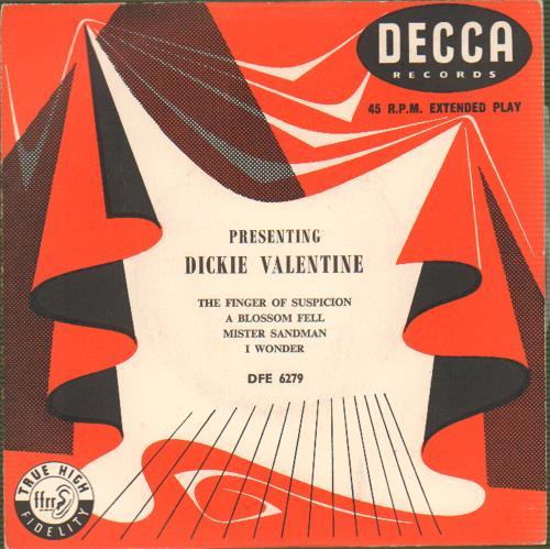 "Dickie Valentine Presenting Dickie Valentine 7"" vinyl single (7 inch record) UK VLT07PR663735"