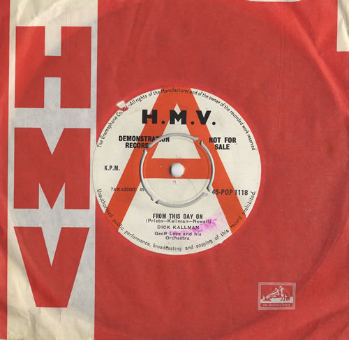 "Dick Kallman From This Day On 7"" vinyl single (7 inch record) UK DQK07FR467666"