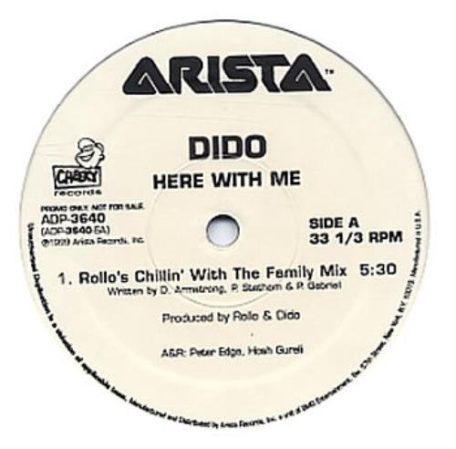 """Dido Here With Me 12"""" vinyl single (12 inch record / Maxi-single) US ODI12HE165049"""
