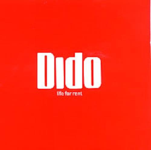 """Dido Life For Rent CD single (CD5 / 5"""") UK ODIC5LI262873"""