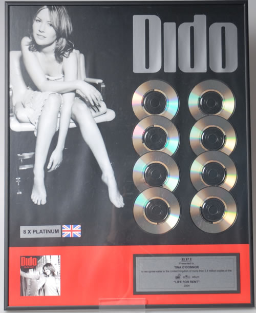 Dido Life For Rent award disc UK ODIAWLI346009