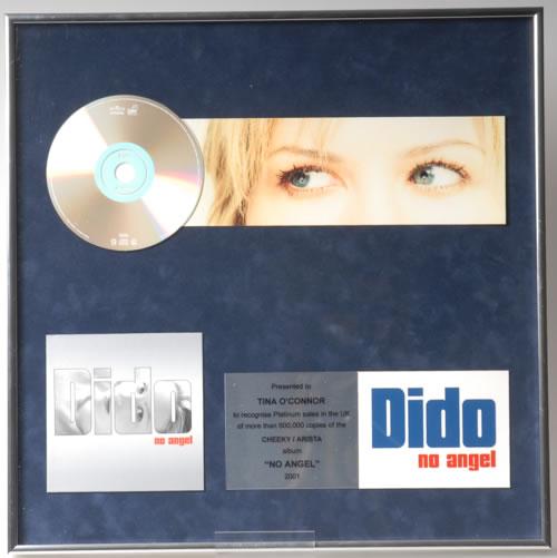 Dido No Angel in-house award disc UK ODIAINO591366