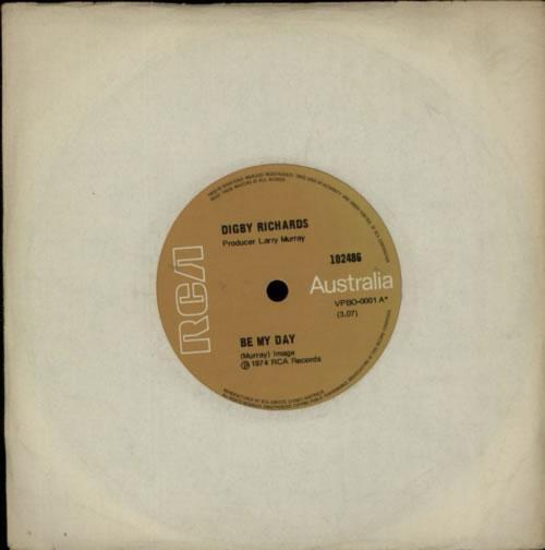 "Digby Richards Be My Day 7"" vinyl single (7 inch record) Australian F3G07BE611464"