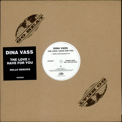 "Dina Vass The Love I Have For You 12"" vinyl single (12 inch record / Maxi-single) UK Q7N12TH510365"