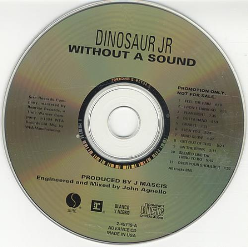 Dinosaur Jr Without A Sound CD album (CDLP) US DJRCDWI128061