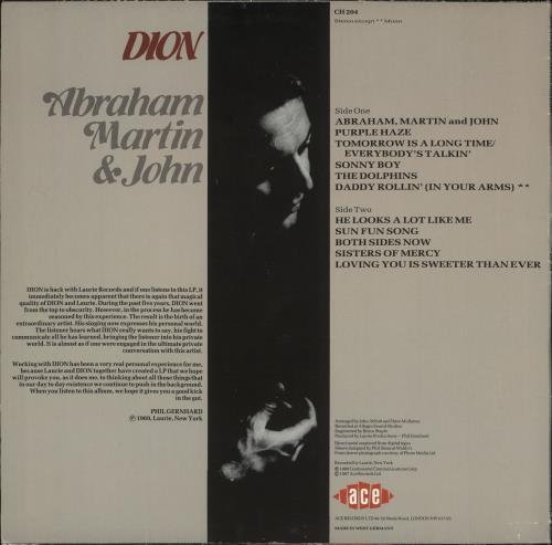 Dion Abraham, Martin & John vinyl LP album (LP record) German DNILPAB719926