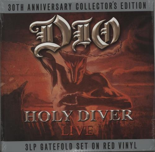Dio Holy Diver Live - Red Vinyl - Sealed 3-LP vinyl record set (