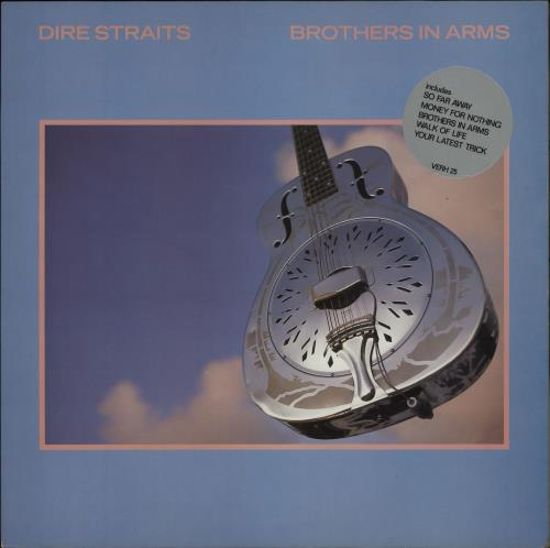 Dire Straits Brothers In Arms - Hype Sticker 2 vinyl LP album (LP record) UK DIRLPBR564973