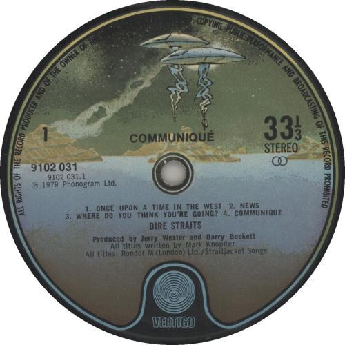 Dire Straits Communique - 1st - EX vinyl LP album (LP record) UK DIRLPCO340100