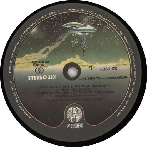 Dire Straits Communique vinyl LP album (LP record) Portugese DIRLPCO726896