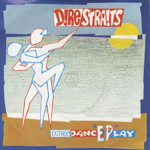 """Dire Straits Dance Play EP - Picture sleeve - Injection moulded 7"""" vinyl single (7 inch record) UK DIR07DA47051"""