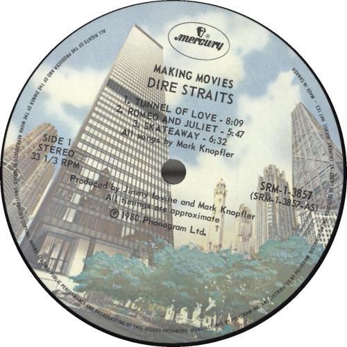 Dire Straits Making Movies vinyl LP album (LP record) Canadian DIRLPMA692094