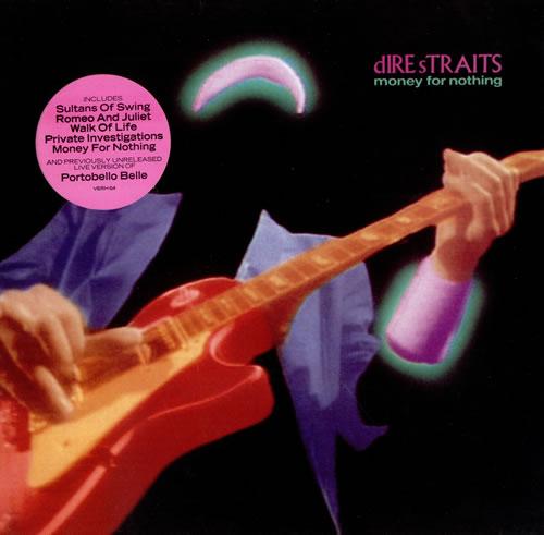 Dire Straits Money For Nothing - Hype Sticker vinyl LP album (LP record) UK DIRLPMO479389