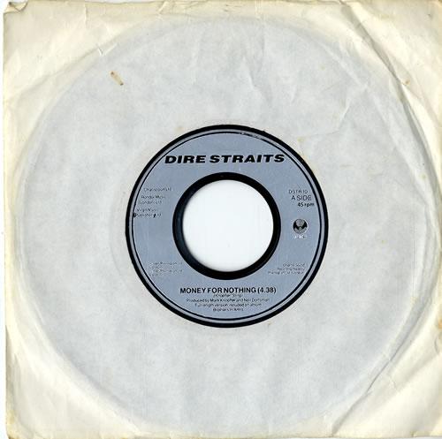 "Dire Straits Money For Nothing - Jukebox 7"" vinyl single (7 inch record) UK DIR07MO599103"