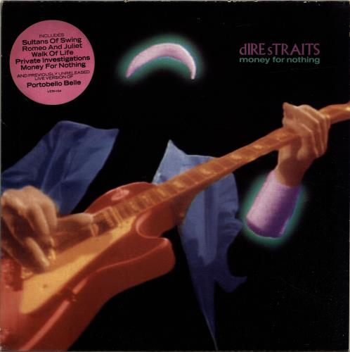 Dire Straits Money For Nothing - Stickered Sleeve - EX vinyl LP album (LP record) UK DIRLPMO656109