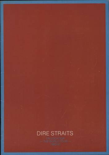 Dire Straits On Location - The World Tour + Ticket Stub tour programme UK DIRTRON345324