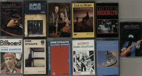 Dire Straits Quantity of 11 Dire Straits/Mark Knopfler Cassette Albums cassette album UK DIRCLQU613581