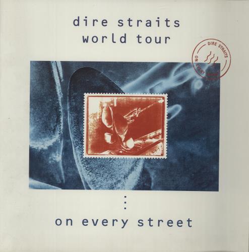 Dire Straits World Tour - On Every Street + Ticket Stub tour programme UK DIRTRWO332863