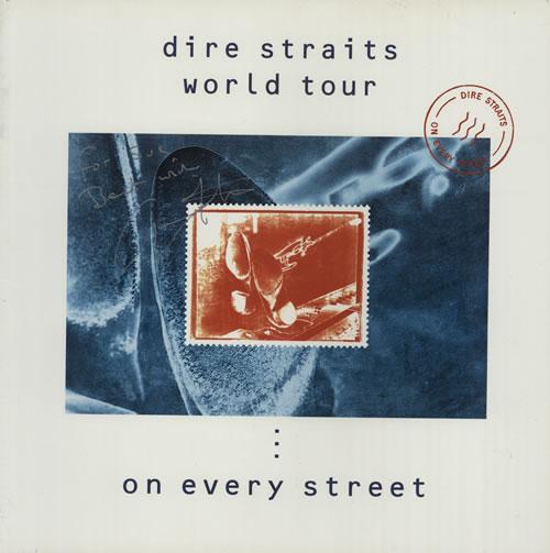 Dire Straits World Tour - On Every Street - Autographed tour programme UK DIRTRWO569045