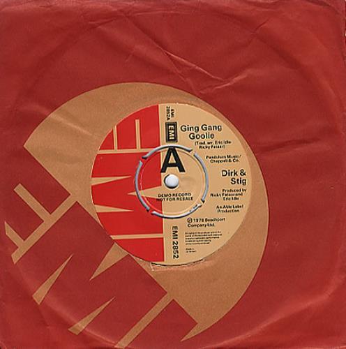 """Dirk & Stig Ging Gang Goolie 7"""" vinyl single (7 inch record) UK RKS07GI350166"""